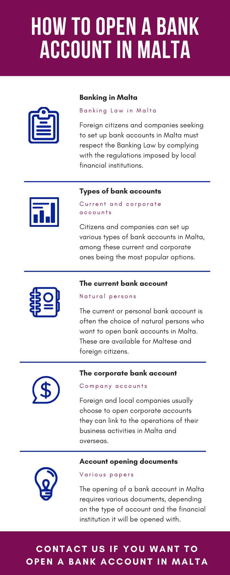 How to open a bank account in Malta